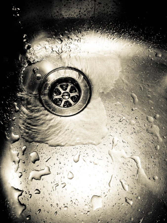 water in sink